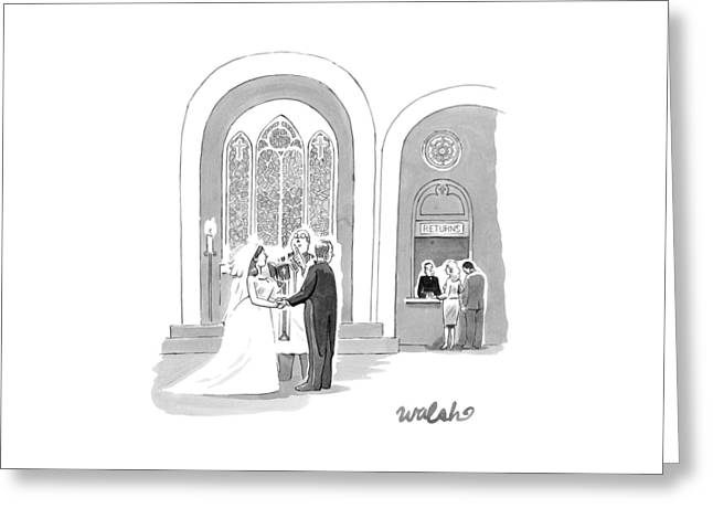A Bride And Groom Getting Married Greeting Card