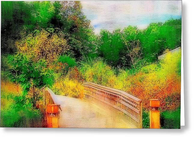 Bridge To Nature  Greeting Card