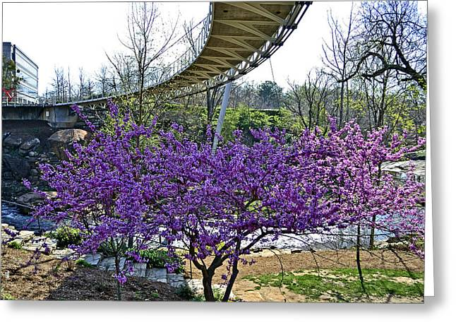 A Bridge To Spring Greeting Card by Larry Bishop