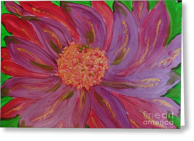 A Brilliant Flower Greeting Card by Marie Bulger