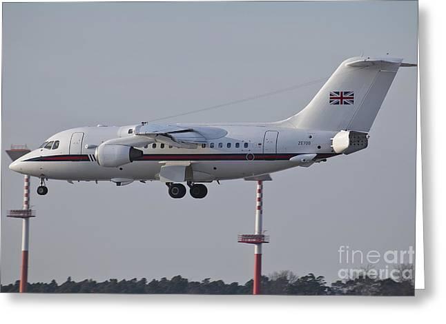 A British Aerospace 146 Jet Greeting Card by Timm Ziegenthaler