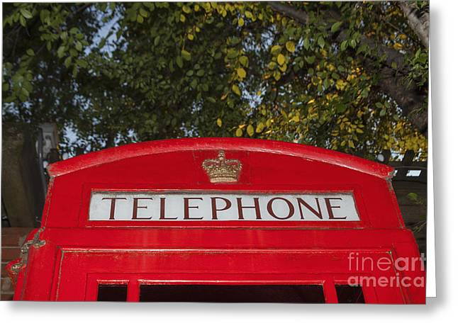 A British Phone Box Greeting Card