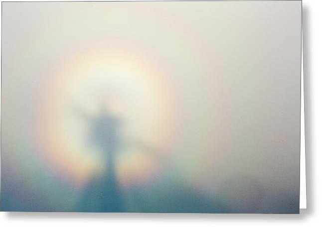 A Broken Spectre On Red Screes Greeting Card