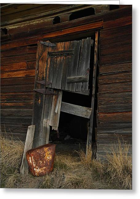 A Bucket And A Door Greeting Card by Jeff Swan