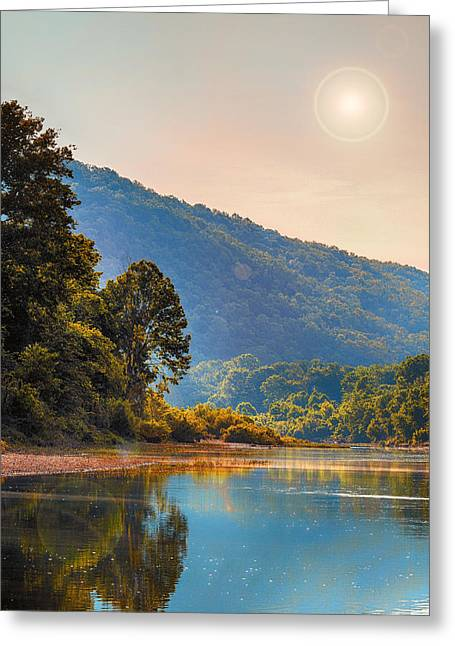 A Buffalo River Morning  Greeting Card by Bill Tiepelman
