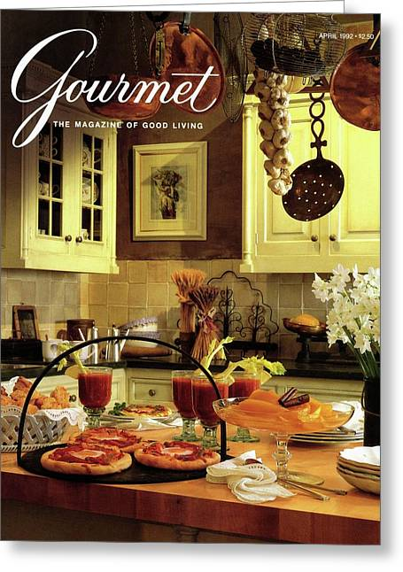 A Buffet Brunch Party Greeting Card by Romulo Yanes