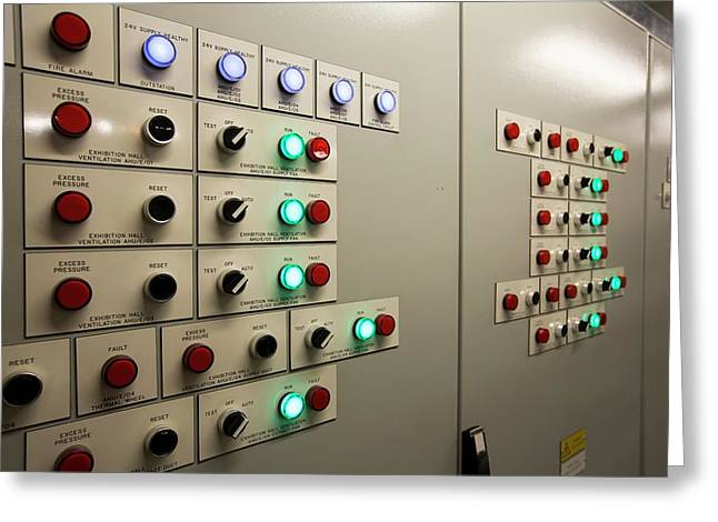 A Building Control Panel Greeting Card