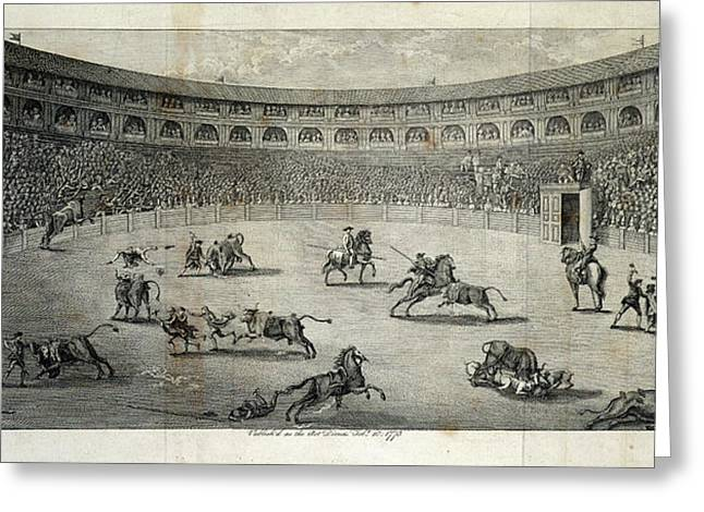 A Bull Fight Greeting Card by British Library