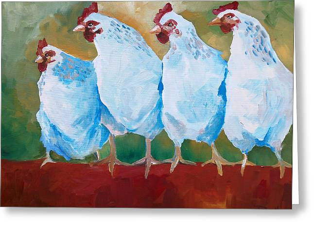 A Bunch Of Old Clucking Hens Greeting Card