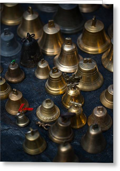 A Bunch Of Shining Vintage Bells Greeting Card by Jaroslaw Blaminsky