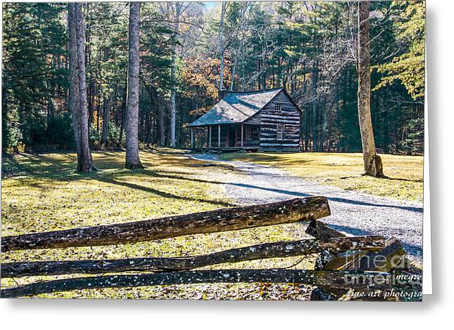 A Cabin In Cades Cove Greeting Card