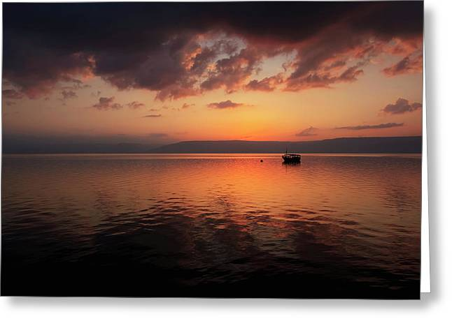 A Calm Settles On The Sea Of Galilee Greeting Card by Reynold Mainse