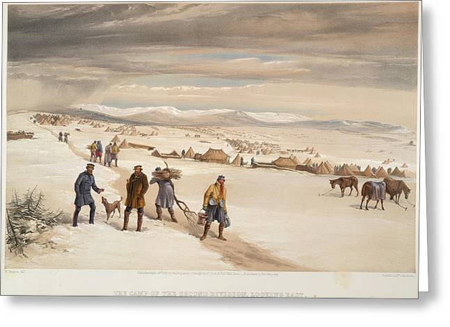 A Camp In The Snow Greeting Card