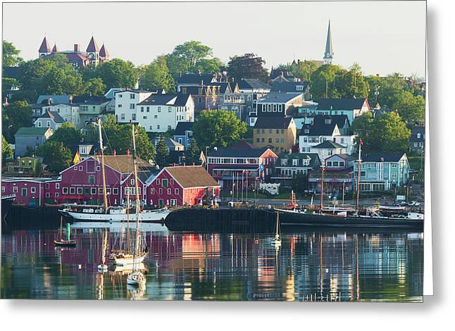 A Canadian Port Town On Mahone Bay Greeting Card by Carl Bruemmer