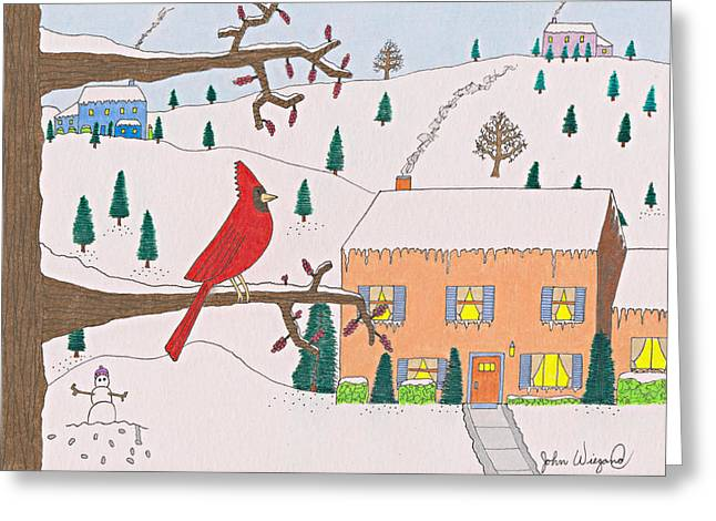 A Cardinal Christmas Greeting Card