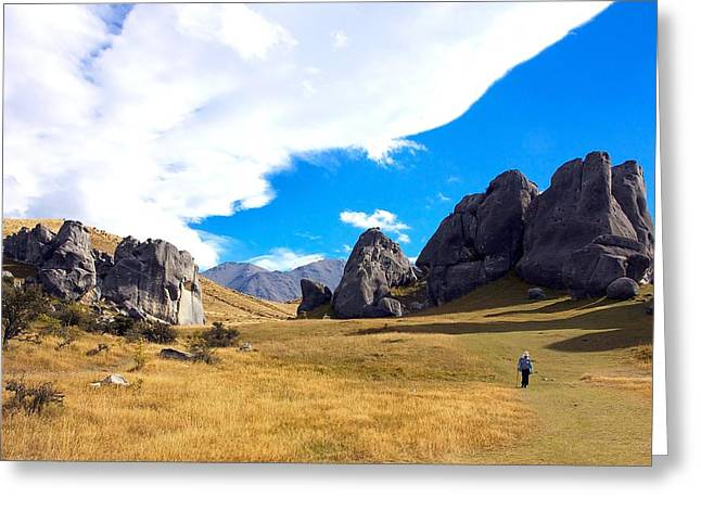 Greeting Card featuring the photograph A Castle Hill Walk by Stuart Litoff