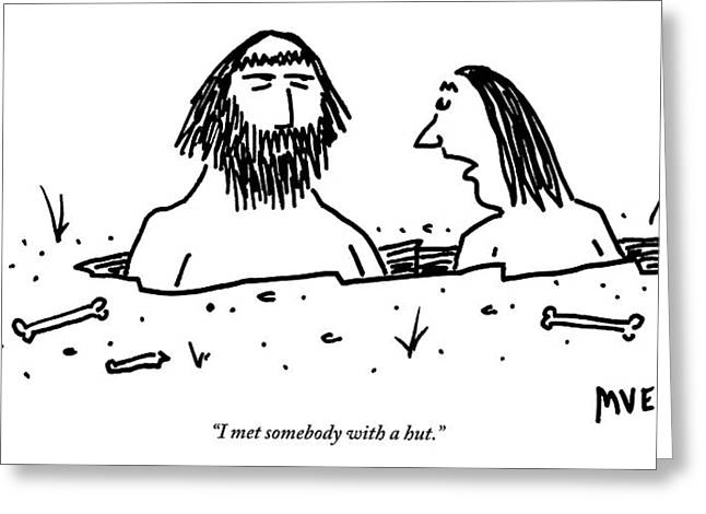 A Cavewoman Breaks Up With A Caveman Greeting Card