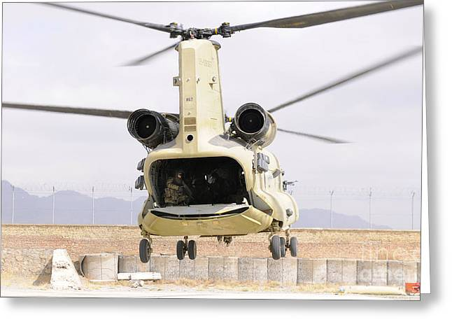 A Ch-47 Chinook Helicopter Transporting Greeting Card