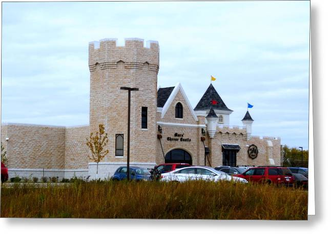 A Cheese Castle Greeting Card by Kay Novy