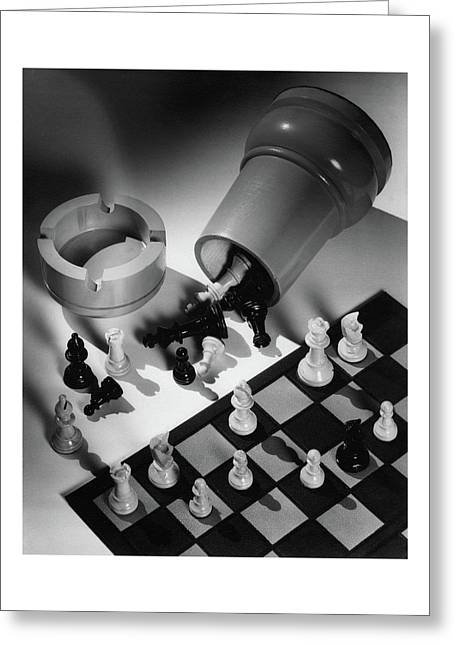 A Chess Set Greeting Card