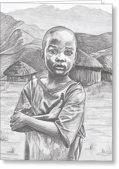 A Child Of Africa Greeting Card