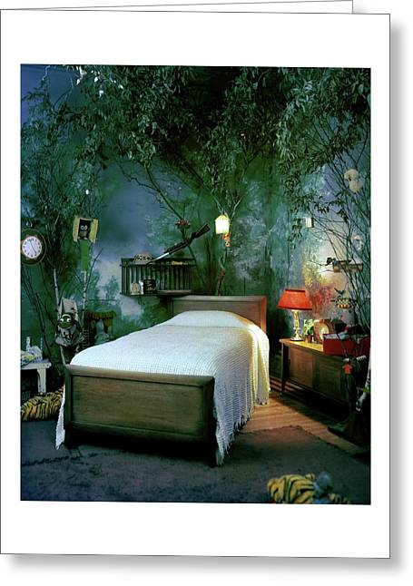 A Child's Bedroom Designed By William Riva Greeting Card