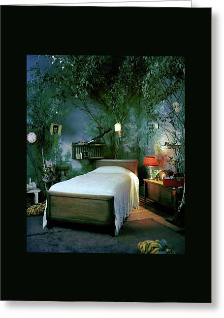 A Child's Bedroom Designed By William Riva Greeting Card by Otto Maya