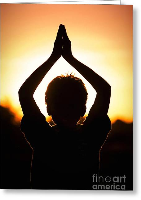 A Childs Prayer Greeting Card