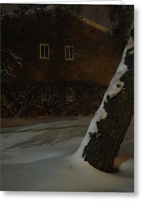 A Chill Outside The Windows Greeting Card by Guy Ricketts