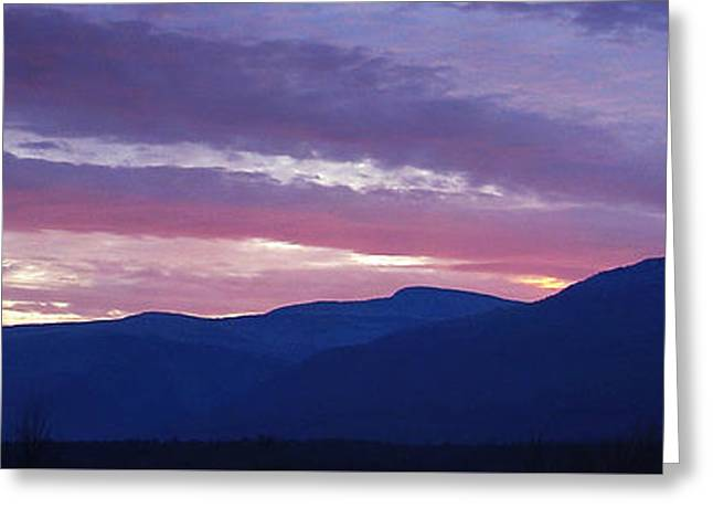 A Chilly Dusk At The Catskill Mountain Escarpment Greeting Card by Terrance DePietro