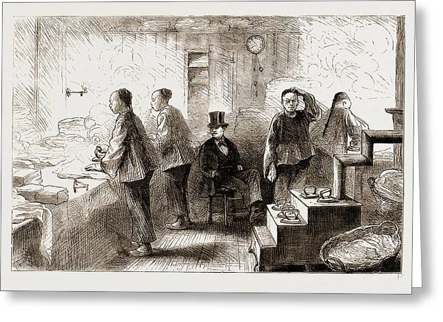 A Chinese Laundry In Philadelphia, 1876 Greeting Card
