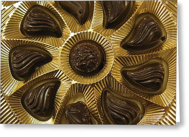 A Chocolate Sun Greeting Card by Ausra Huntington nee Paulauskaite