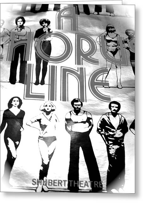 A Chorus Line Vintage Bw II Greeting Card by Toni Ryder