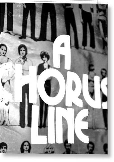A Chorus Line Vintage Bw Greeting Card by Toni Ryder