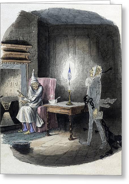A Christmas Carol, Marleys Ghost, 1843 Greeting Card by British Library