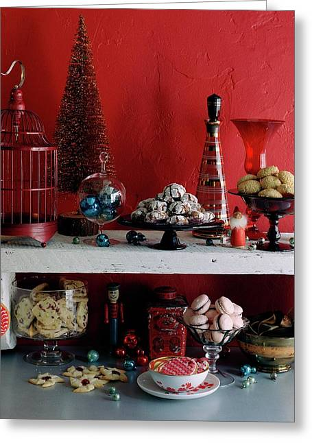 A Christmas Display Greeting Card