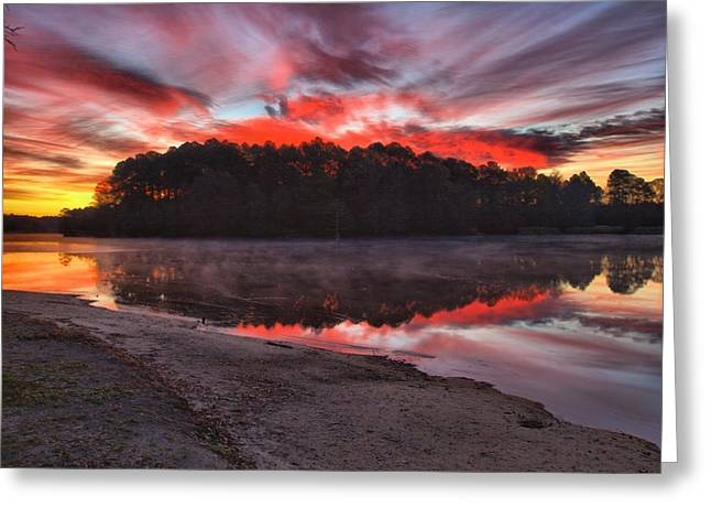 A Christmas Eve Sunrise Greeting Card by Gordon Elwell