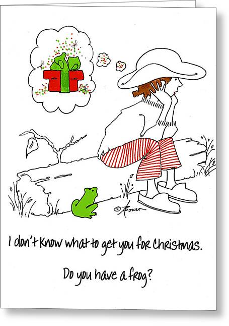 A Christmas Frog Greeting Card