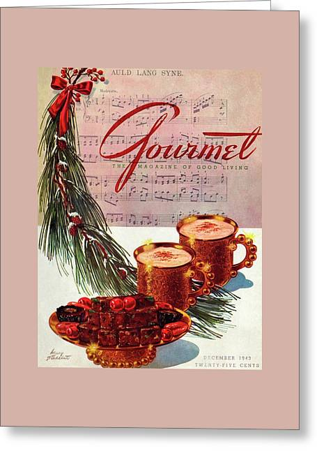 A Christmas Gourmet Cover Greeting Card by Henry Stahlhut