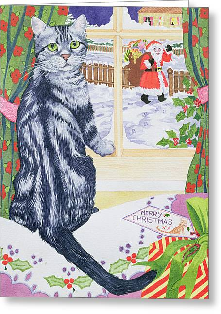 A Christmas Visitor For Toby Greeting Card by Suzanne Bailey