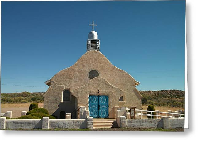 A Church In New Mexico Greeting Card by Jeff Swan