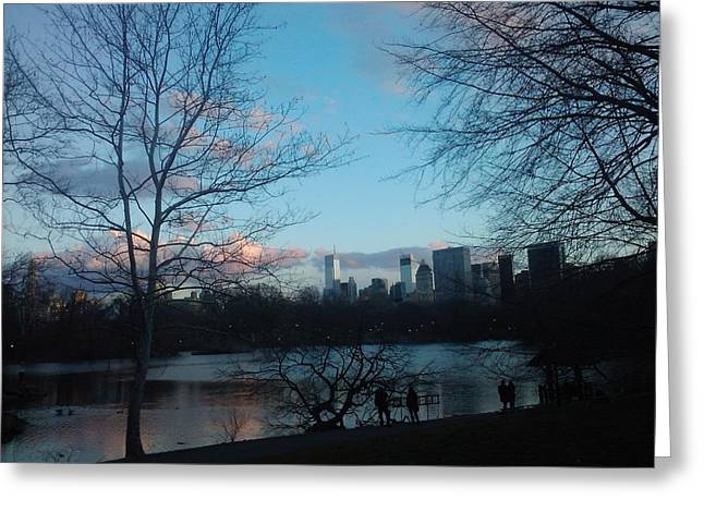 A City And Its Reflections Greeting Card