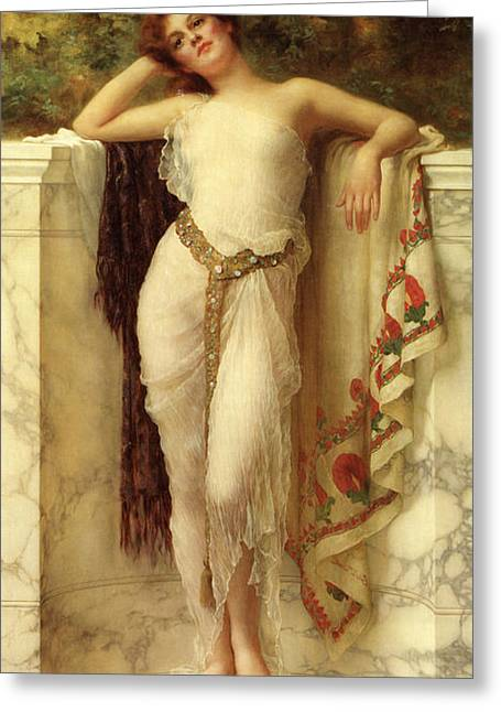 A Classical Beauty Greeting Card