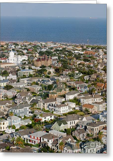 A Clear Day On Galveston Island Greeting Card