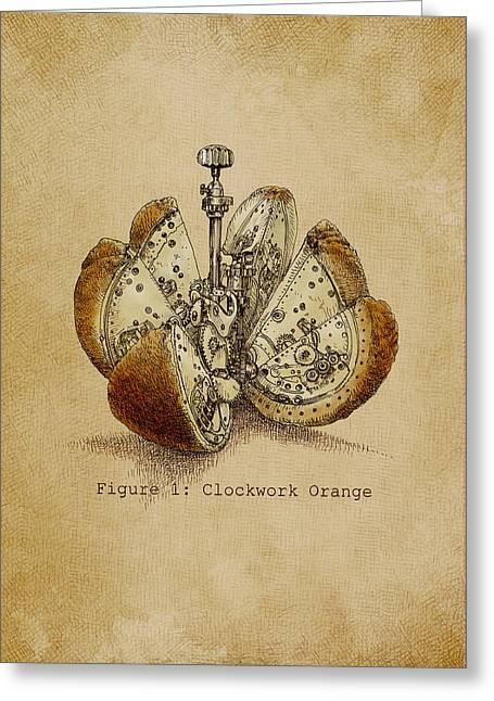 Steampunk Orange - Option Greeting Card