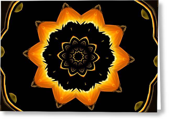 A Clockwork Orange Greeting Card by Jean Noren