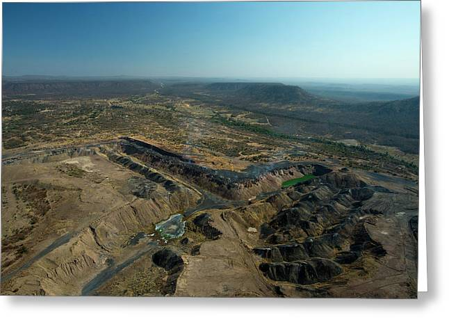 A Coal Mine And Its Destructive Impact Greeting Card by Beverly Joubert