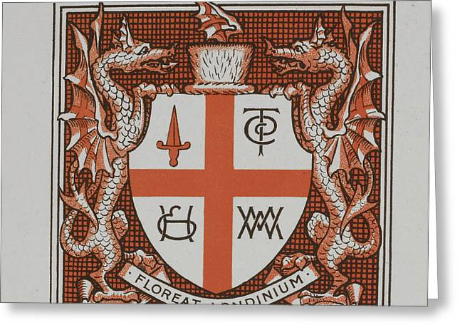 A Coat Of Arms Greeting Card by British Library