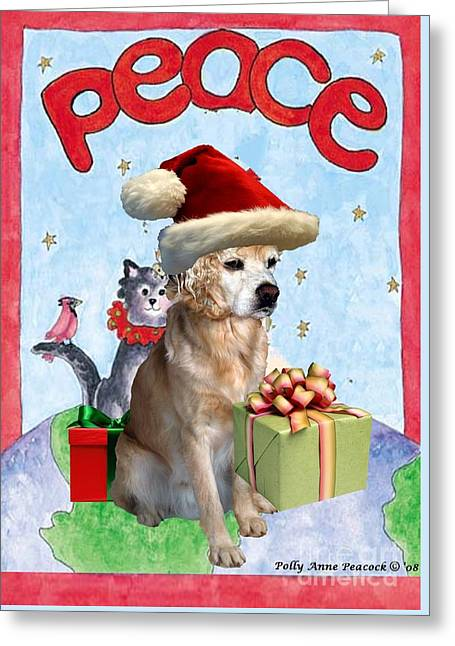 Greeting Card featuring the digital art A Cocker Spaniel's Christmas Greeting Card by Polly Peacock