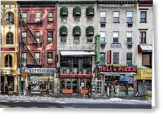 A Cold Day In Ny Greeting Card by Peter Pfeiffer